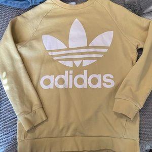 Adidas crew neck sweater yellow